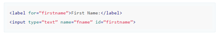 Example: Add labels to form fields