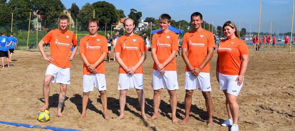 The best beach football team ever!