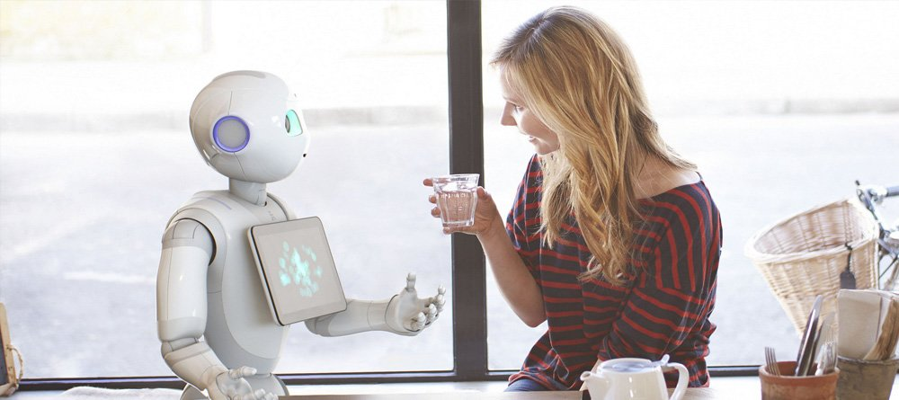 A humanoid robot Pepper has just joined Diatom