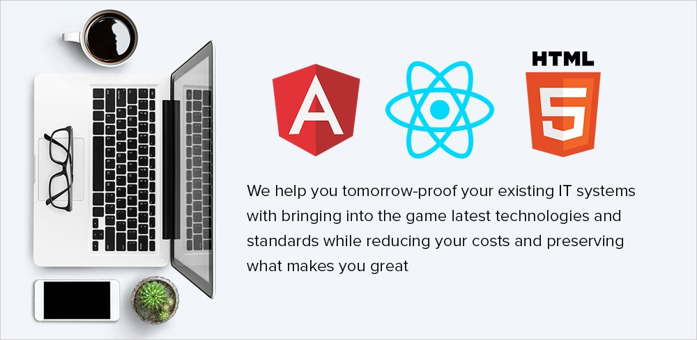 HTML5/AngularJS/ReactJS Development and migration from the existing Flash systems
