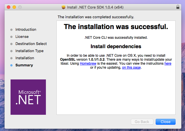Installation process is complete