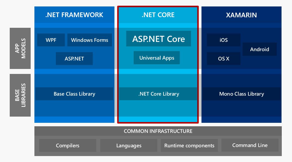 .NET Framework and .NET Core