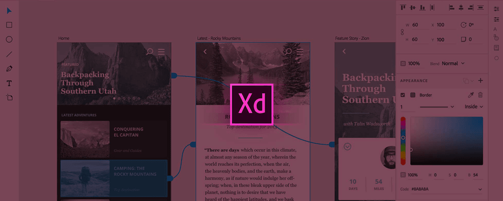 New Adobe Experience Design Tool for design, prototype and share