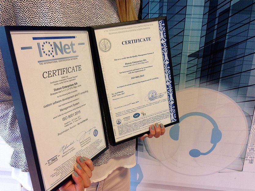 Diatom has successfully upgraded the ISO certification!